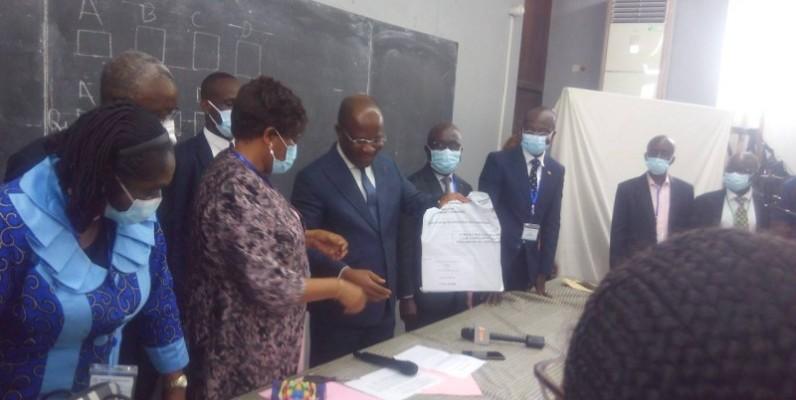 Pierre Dimba a également indiqué que cette phase des épreuves écrites ne connaîtra ni la fraude ni la tricherie. (Dr)