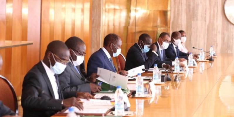 La réunion du Conseil national de sécurité a été présidée par le Chef de l'État, Alassane Ouattara. (Photo : Présidence de la république )