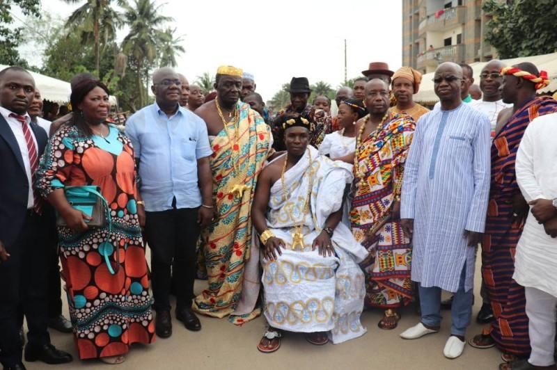 Nanan Bini Kouamé promet prôner la cohésion sociale au sein de sa communauté (Photo Bavane)
