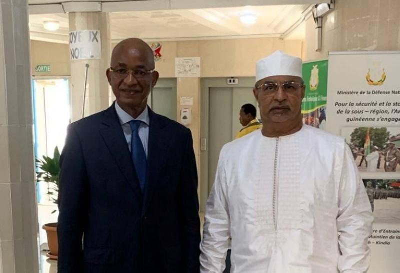 Cellou Dalen Diallo et le Représentant Spécial du Secrétaire général de l'Onu