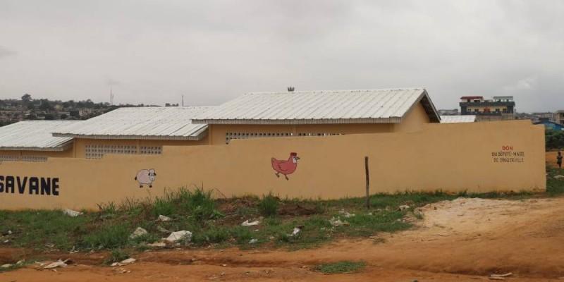 L'école primaire publique N'Gbromin, l'œuvre de Issouf Doumbia. (Photo Bavane)
