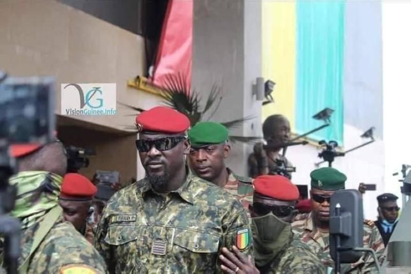 Le président du CNDR, le Colonel Mamady Doumbouya