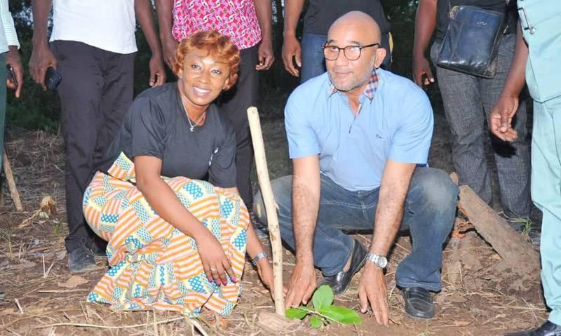 Michel Gbagbo et Rebecca Yao ont posé un acte hautement symbolique. (DR)