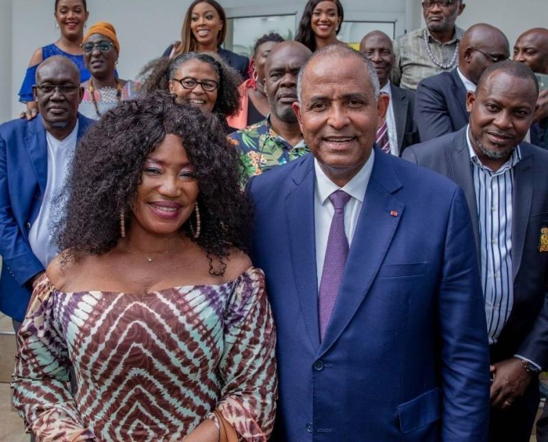 Les acteurs du cinéma ivoirien étaient chez le Premier ministre. (Primature)