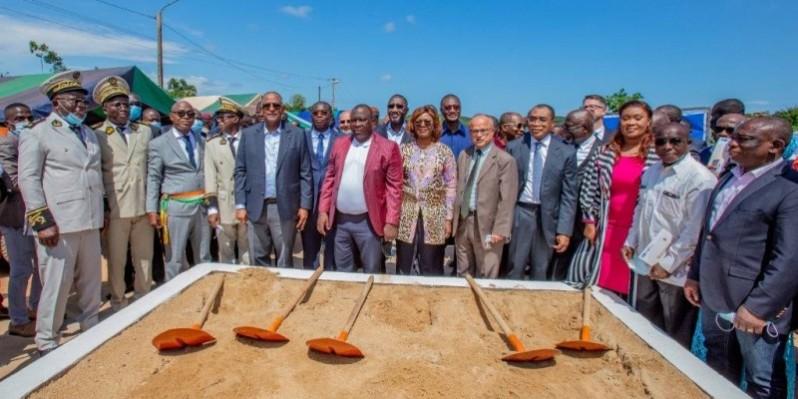 Le Premier ministre Patrick Achi au lancement des travaux de réhabilitation de la côtière. (DR)