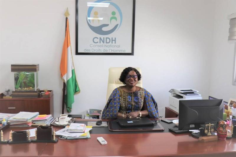 La présidente du CNDH, Namizata Sangaré
