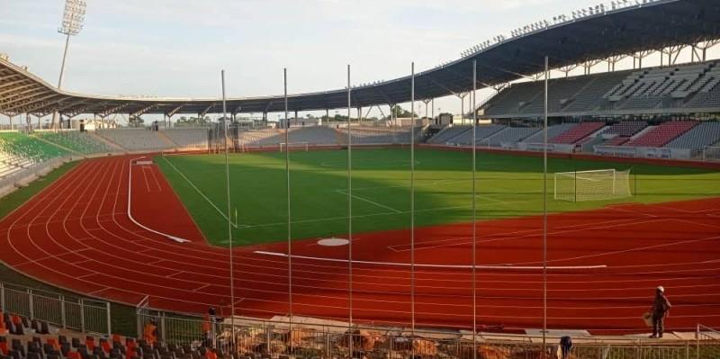 Le stade de Yamoussoukro attend juste quelques retouches pour être définitivement opérationnel. (DR)