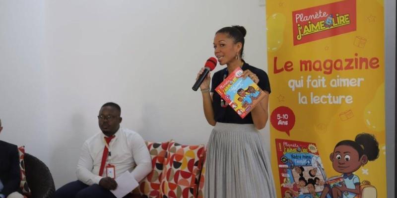 Laure Blédou, directrice éditorial et marketing, a présenté les différents produits de Bayard Afrique. (DR)