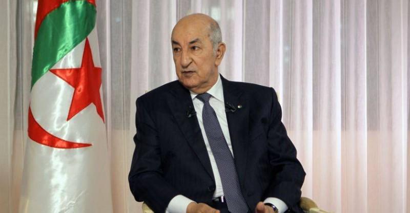 Le Président algérien, Abdelmadjid Tebboune