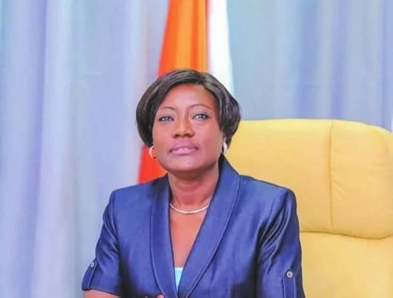 La ministre Mariatou Koné, ministre de l'Education nationale et de l'Alphabétisation