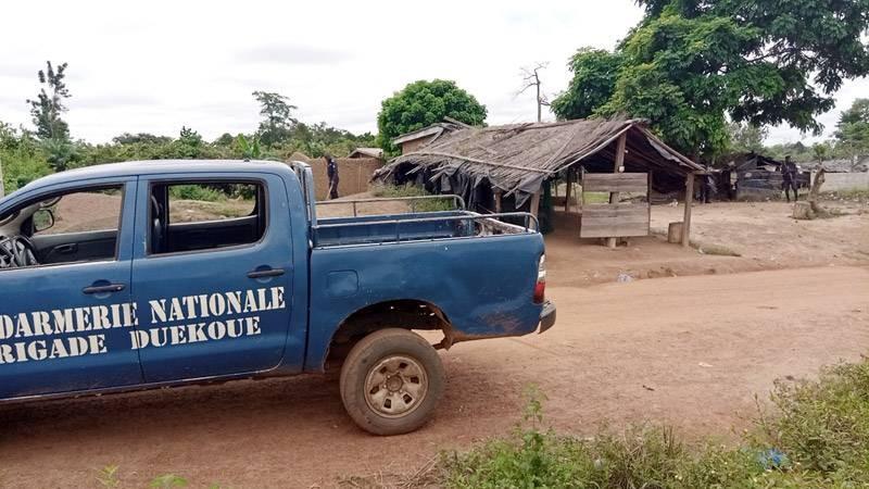 Une vue du poste de contrôle attaqué. (Photo : Saint-Tra Bi)